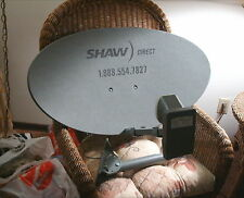 NEW SHAW DIRECT 60cm ELLIPTICAL SATELLITE DISH w Triple XKU LNB