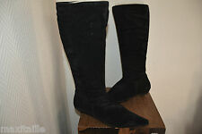 BOTTES  HAUTE TAMARIS TAILLE 36  CHAUSSURE BOOTS  CUIR LEATHER  NEUF