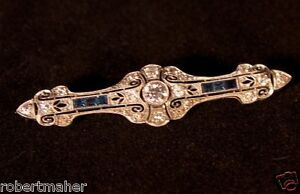 Antique Diamond and Sapphire brooch MAKE ME AN OFFER!!!