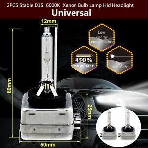 2PCS 35W D1S 6000K Xenon Bulb Lamp 12V Universal Car Hid Headlight Durable Parts