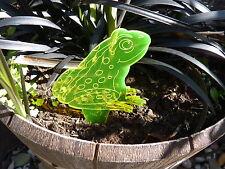 Selbstleuchtender Sonnenfänger Erdstecker / Motiv: Frosch 200mm