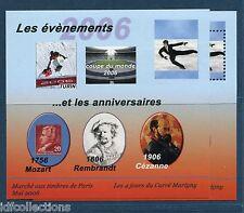"""Paire blocs Marigny de 2006 """"les evenements"""" un dentelé et un non dentelé"""