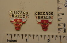 TWO Old 1989 Limited Edition NBA Basketball Pins - Chicago BULLS