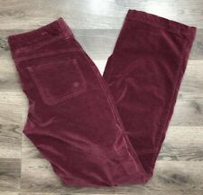 Athleta Womens Size 4T Mid Rise Bootcut Corduroy Pants Red