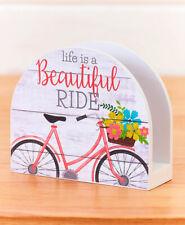 Vintage Bicycle Kitchen Napkin Holder - Life is a Beautiful Ride - Kitchen Decor