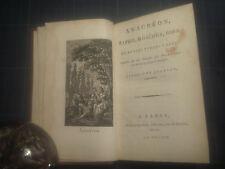 Anacréon, Sapho, Moschus,Bion traduit par POINSINET DE SIVRY LE PRIEUR 1797 AN V