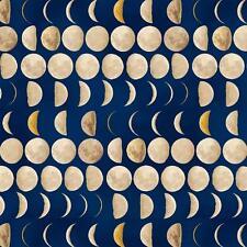 Galileo Navy Moon Phases Night Sky Astronomy Space Windham Fabric Yard