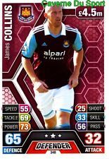 348 JAMES COLLINS WALES WEST HAM CARD MATCH ATTAX PREMIER LEAGUE 2014 TOPPS