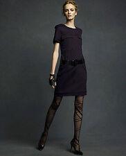 Women's NWT Karl Lagerfeld dark blue short slv military style dress-M