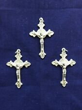 """ FLARED SUNBURST CRUCIFIX""  2-1/8"" H,   Lot 3 pcs  HIGH QUALITY!  *NEW*"