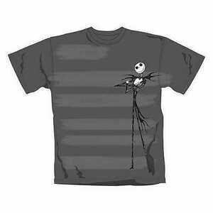 NBX Nightmare Before Christmas Stripe Burn Official Merchandise T-Shirt L/XL