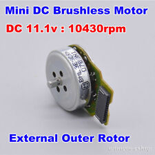 DC11.1V 10430RPM 3-Phase External Outer Rotor Mini Brushless Motor DIY Toy Parts
