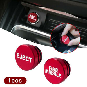 1x Red Fire Missile Eject Button Car Cigarette Lighter Cover Car Accessories 12V