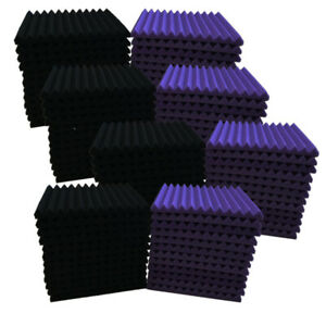 """96PACK 12""""X 12""""X1"""" Acoustic Foam Panel Wedge Studio Soundproofing Wall Tiles-USA"""