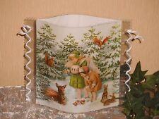 Tischlicht/Windlicht - Engel im Winterwald - Weihnachten/Winter