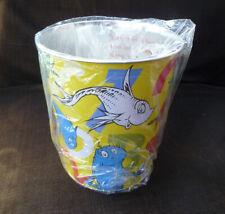 ~ Dr. Seuss ~ OneFish TwoFish metal Wastebasket - Can ~ Vandor 2001 ~ Unused!