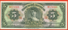Mexico 1957 ( 5 Pesos ) World paper money banknotes currency ( Gq )