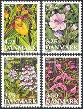 Denmark 1990 Endangered Flowers/Plants/Nature/Orchids/Conservation 4v set n42729