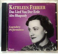 Legendary Performances: Das Lied von der Erde, Alto Rhapsody (CD, 2013) (cd6371)