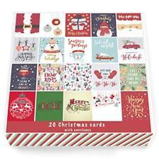 20 x Christmas Cards Multi-Pack Square Cards 15cm x 15cm Him Her Teachers packs