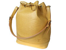 LOUIS VUITTON Noe Epi Leather Yellow Drawstring Shoulder Bag Purse LS11397L