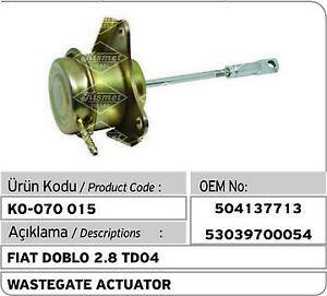 Iveco - Citroen - Fiat 2.8 /3.0 Turbo Wastegate Actuator 504137713 - 53039700054
