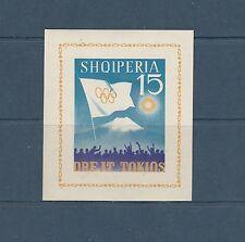 Albanie bloc   jeux olympiques de Tokyo   1964   num: 6K  **   non dentelé