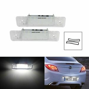 Canbus LED License Number Plate Light For Opel Vauxhall Astra Zafira Omega VX220