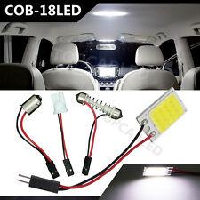 1 X Festoon T10 BA9S White LED COB 18SMD Panel Car Interior Dome Map Light Lamp