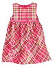 NWT GYMBOREE CHEERY ALL THE WAY DRESS Size 6 12 m Pink Plaid Party Holiday Girls