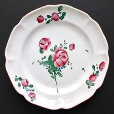 Assiette en faïence de l'Est de la France Décor Strasbourg, fin de XVIIIe siècle