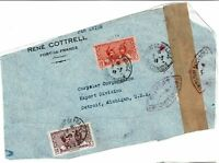 Martinique 1940s Airmail Cover to USA, front only, see notes -  Lot 101717