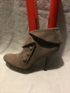 ASH Ladies Ankle Boots UK Size 6 EU Size 39 Brown Suede