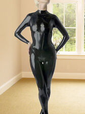Latex Rubber Gummi Ganzanzug Bodysuit 0.8mm Catsuit Zipper Suit Size Size XS-XXL