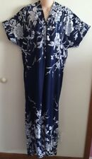 ~Nwt~Navy/White Trapunto Short Sleeve Zip Front 52In. Lounger Size 7X