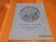 1967 CENTENNIAL MEMORIES MILLSTREAM TO JETSTREAM ORANGEVILLE IL SOUVENIR BOOK
