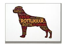 More details for rottweiler art print rottie word art a4 a3 mothers day gift personalised option