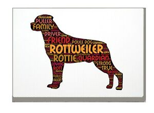 Rottweiler Art Print Rottie Word Art A4 A3 Mothers Day Gift Personalised Option