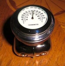 VTG Style CIRCA Art Deco WHITE THERMOMETER SPINNER SUICIDE KNOB HOT RAT ROD 40S