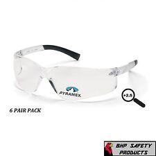 SAFETY GLASSES READER +2.50 CLEAR BIFOCAL LENS PYRAMEX ZTEK S2510R25 (6 PAIR)