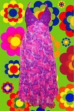 110✪ Indian Gipsy Edel Hippie Kleid 70er Jahre Festival Boho Pailletten lila