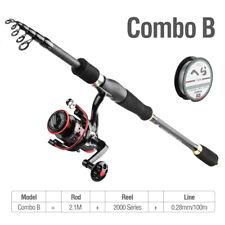 Fishing Rod Reel Combos Telescopic Fishing Pole with Spinning Fishing Reel Kit