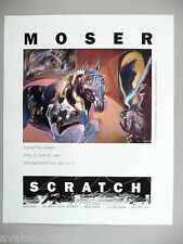 Moser Art Gallery Exhibit PRINT AD - 1989 ~~ The Mythic Horse