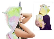 Unique Festival Unicorn Plush Backpack + Hood Kawaii Mystical Quirky Rucksack