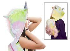 Unique Winter Unicorn Plush Backpack + Hood Kawaii Mystical Quirky Rucksack