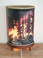 + Rare lampe 1960 Econolite USA - motion lamp - Incendie Feu de forêt  +