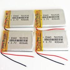 4 x 400mAh Lipo Polymer ion Battery 3.7V For mp3 DVD GPS bluetooth camera 502535