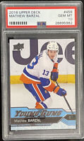 2016 2017 Mathew Barzal PSA 10 UPPER DECK UD YOUNG GUNS ROOKIE CARD RC Barzy YG