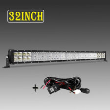 "Quad ROW 32""inch 3360W LED Light Bar Combo Offroad for Jeep Truck vs 31"" 32"" 36"""