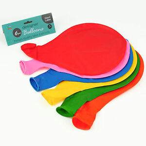 """36"""" Large Giant Oval Latex Big Balloon Wedding Party Decoration - 6 Pack - Mix"""